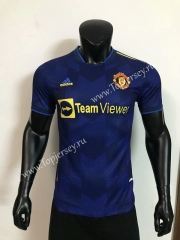Player Version 2021-2022 Manchester United 2nd Away Dark Blue Thailand Soccer Jersey AAA-LH