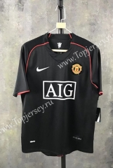 Retro Version 07-08 Manchester United Away Black Thailand Soccer Jersey AAA-SL